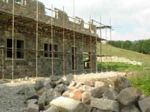 Construction work on the RAW-built Ramsgill house showing the use of the finest quality products.