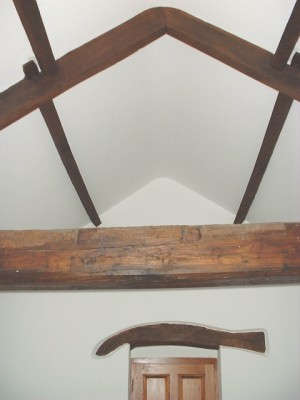 If you like wooden beams, you can have them! (a house in Middleham)